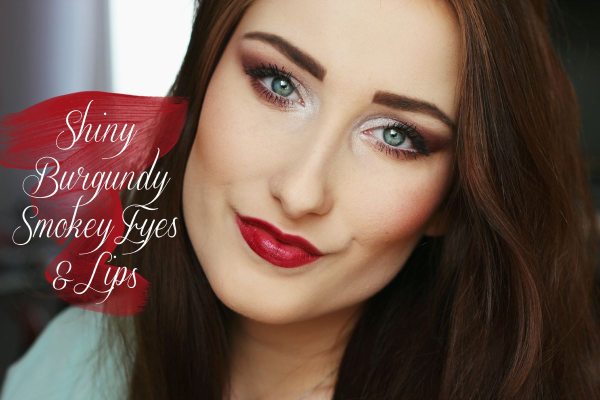 Video: Shiny Burgundy Smokey Eyes & Lips