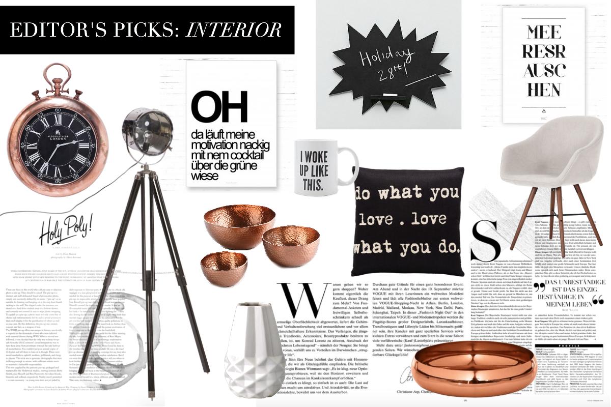 Editor's Picks: Interior – Black, White & Copper