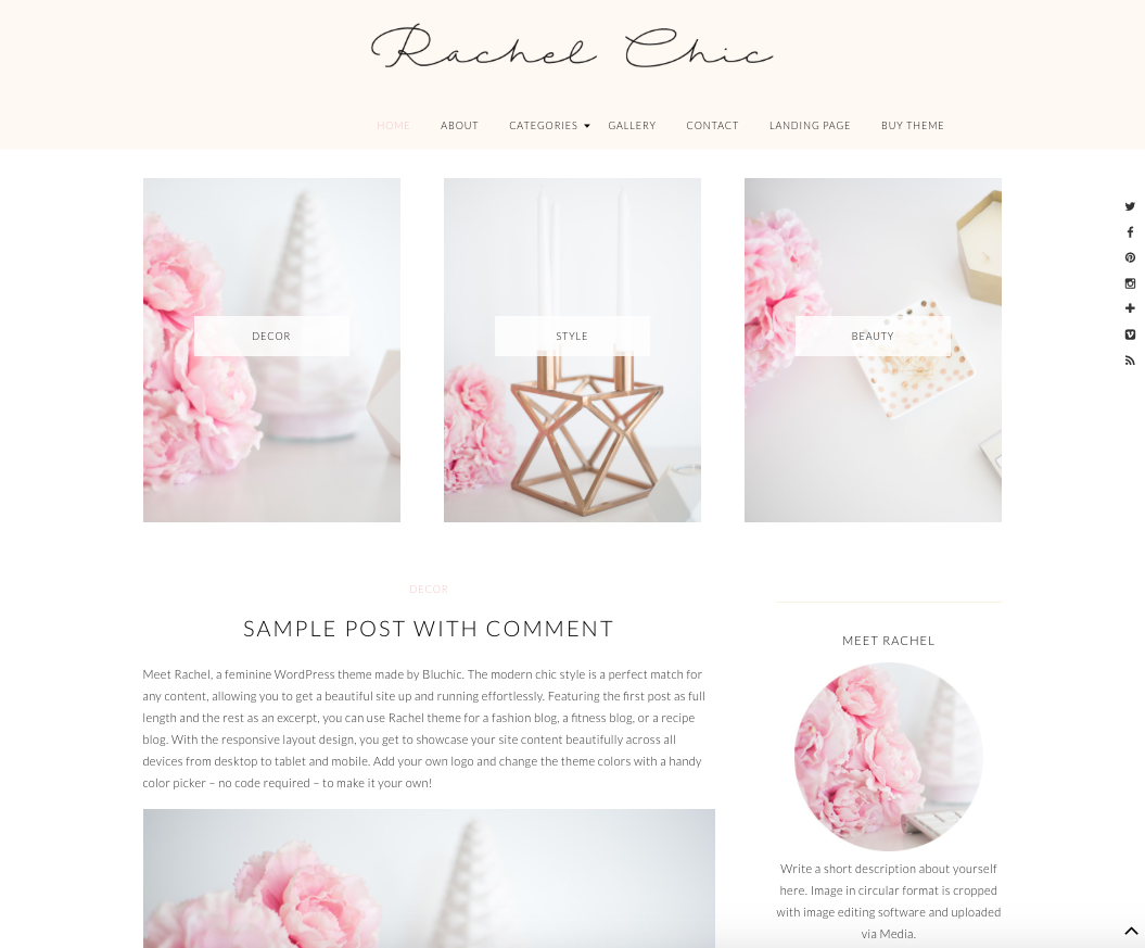 Rachel Chic WordPress Theme