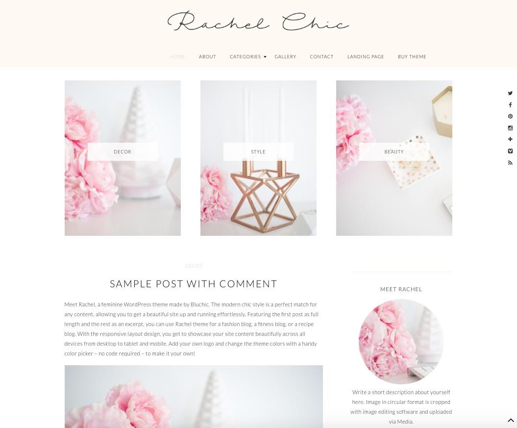 Rachel Chic WordPress Theme