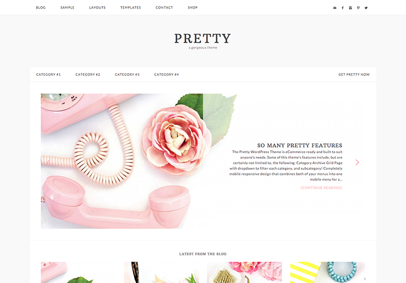 Pretty WordPress Theme