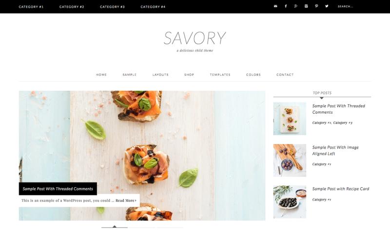 Savory WordPress Theme