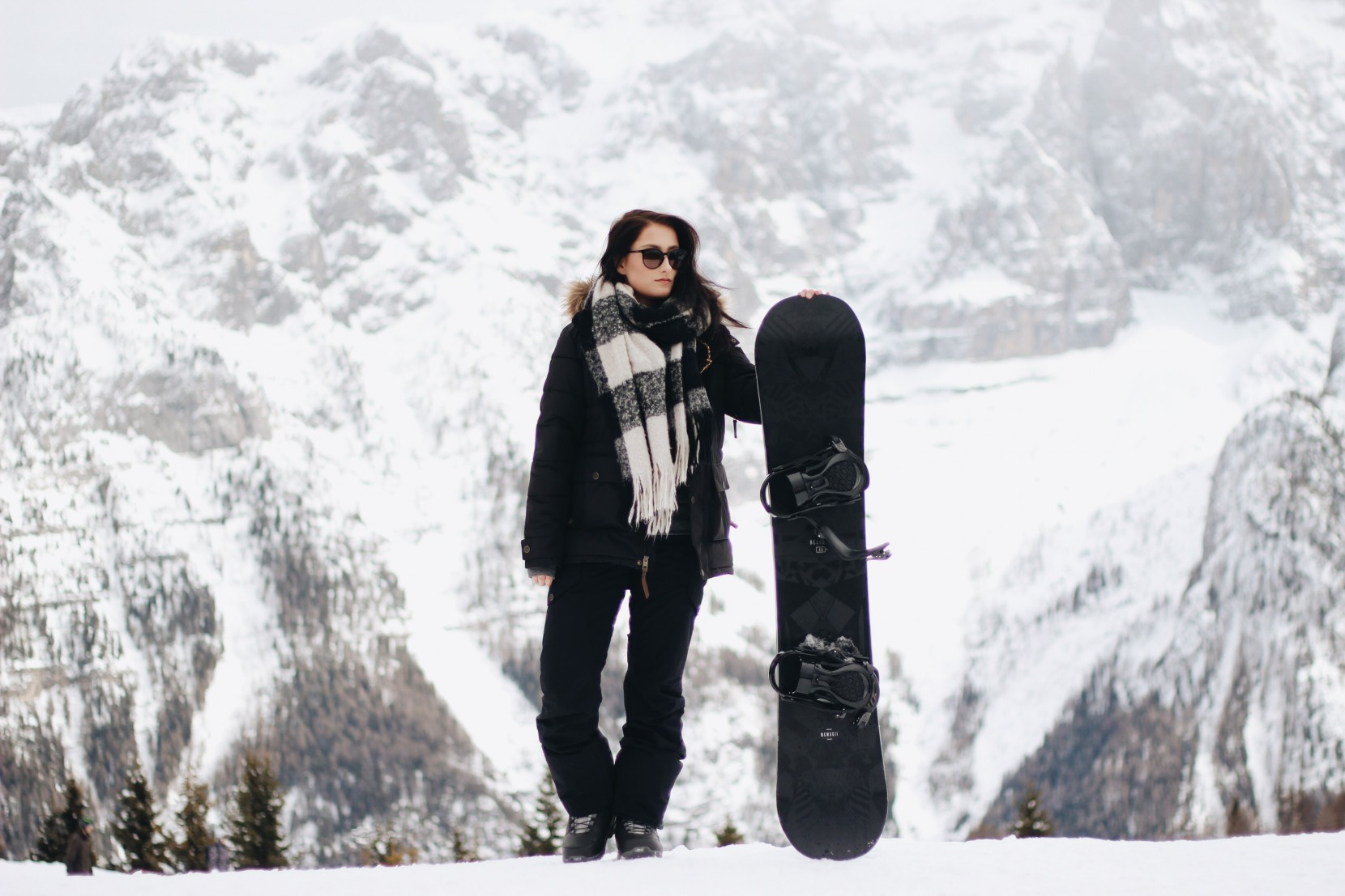 All Black Everything Snowboard Outfit