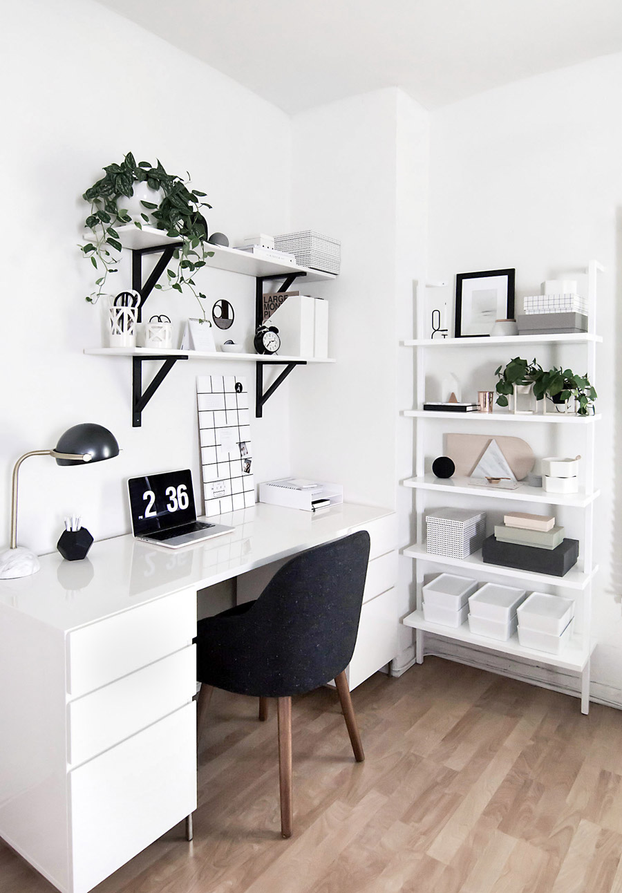 Interior inspiration workspace home office a classy mess for Black and white vintage bedroom ideas
